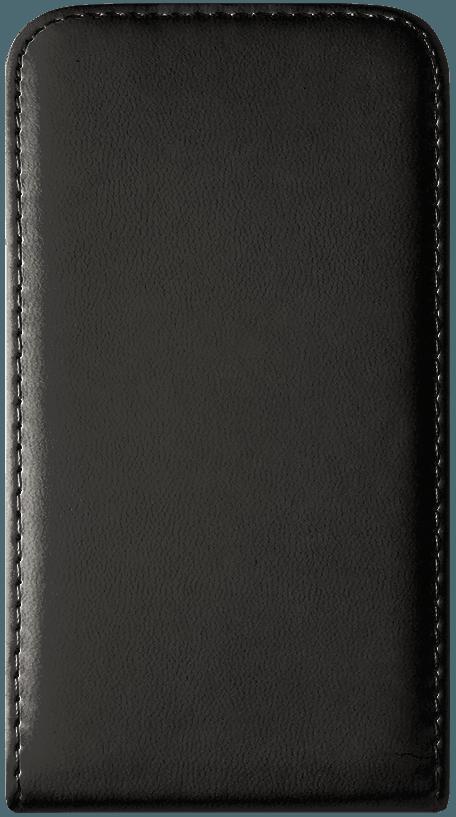 Apple iPhone SE lenyíló flipes bőrtok  fekete