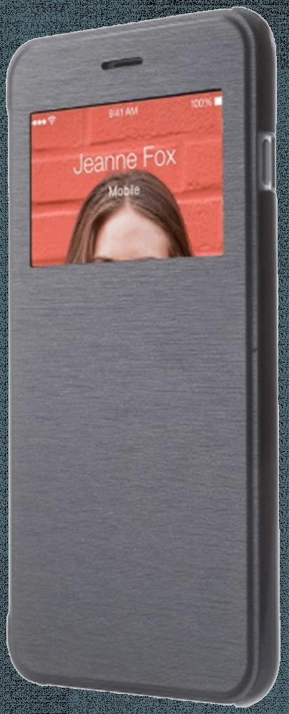 Apple iPhone 6 Plus oldalra nyíló flipes műanyag tok sötétkék