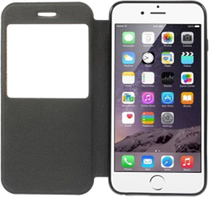 Apple iPhone 6 Plus oldalra nyíló flipes bőrtok parafa mintás