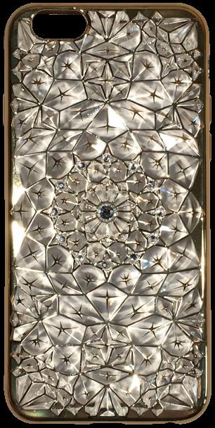 Apple iPhone 6 szilikon tok gyémánt mintás arany/átlátszó