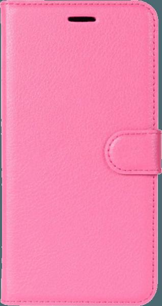 HTC U11 oldalra nyíló flipes bőrtok asztali tartó funkciós rózsaszín