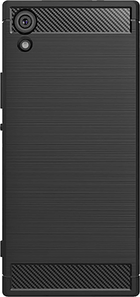 Sony Xperia XA1 Ultra ütésálló tok légpárnás sarok karbon mintás fekete