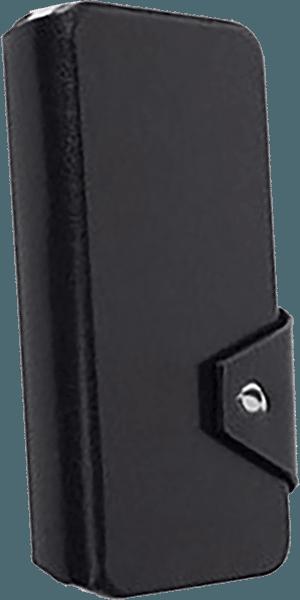 Apple iPhone 6S oldalra nyíló flipes bőrtok gyári KRUSELL bankkártya tartó fekete
