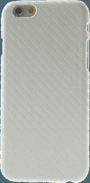 Apple iPhone 6 kemény hátlap karbon mintás fehér