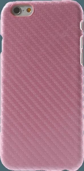 Apple iPhone 6S kemény hátlap karbon mintás rózsaszín