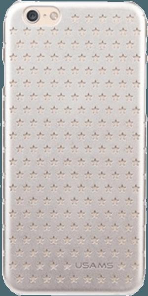 Apple iPhone 6S kemény hátlap gyári USAMS csillag minta ezüst