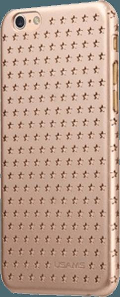 Apple iPhone 6 kemény hátlap gyári USAMS csillag minta arany