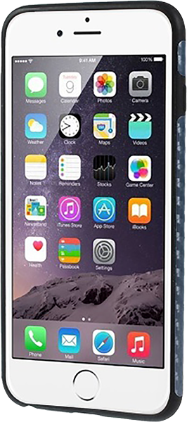 Apple iPhone 6 Plus szilikon tok karbon mintás sötétkék