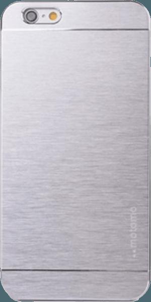 Apple iPhone 6S kemény hátlap gyári MOTOMO szálcsiszolt mintás ezüst