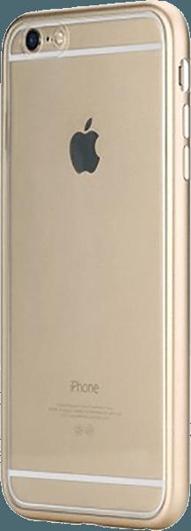 Apple iPhone 6S Plus alumínium hátlap gyári ROCKPHONE átlátszó arany