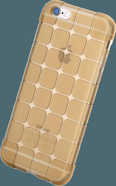 Apple iPhone 6S szilikon tok gyári ROCKPHONE kockaminta arany