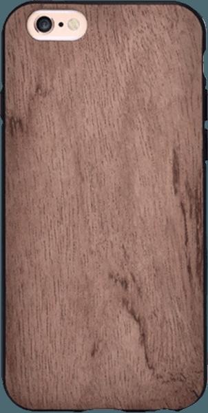 Apple iPhone 6 szilikon tok gyári VOUNI fa hátlap barna