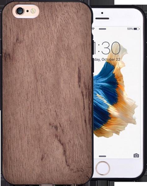 Apple iPhone 6S szilikon tok gyári VOUNI fa hátlap barna