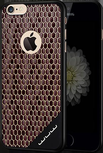 Apple iPhone 6S Plus kemény hátlap méhsejt minta fekete-barna