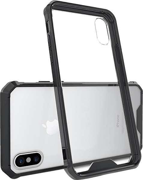 Apple iPhone X bumper szilikon keret fekete
