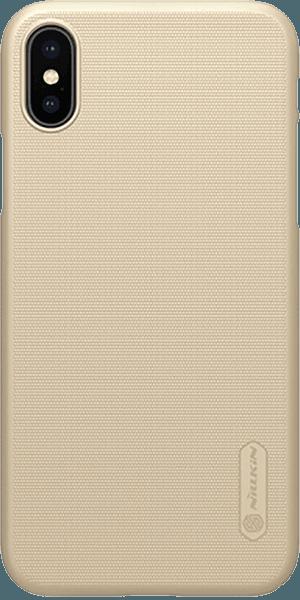 Apple iPhone X kemény hátlap gyári NILLKIN gumírozott-érdes felületű arany