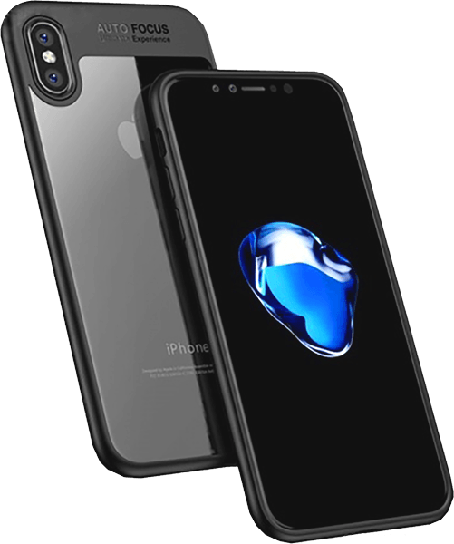 Apple iPhone X bumper gyári IPAKY légpárnás sarok szilikon keret fekete