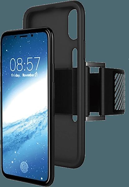 Apple iPhone X sport tok fényvisszaverő csík fekete