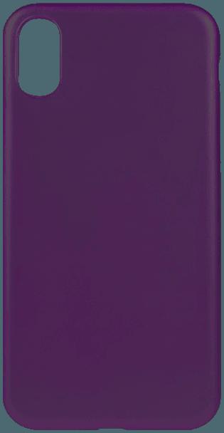 Apple iPhone X szilikon tok matt lila