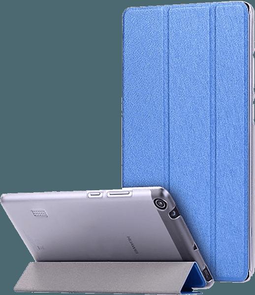 Huawei MediaPad T3 7 oldalra nyíló flipes bőrtok selyem mintás sötétkék