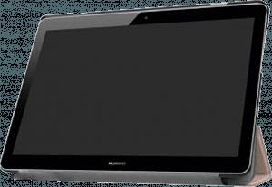 Huawei MediaPad T3 10 Wifi oldalra nyíló flipes bőrtok asztali tartó funkciós rozéarany