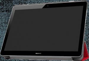 Huawei MediaPad T3 10 Wifi oldalra nyíló flipes bőrtok asztali tartó funkciós piros