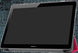 Huawei MediaPad T3 10 LTE oldalra nyíló flipes bőrtok asztali tartó funkciós rózsaszín