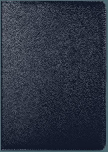 Apple iPad Pro 9.7 oldalra nyíló flipes bőrtok 360° ban forgatható sötétkék