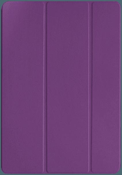 Apple iPad Pro 2017 10.5 oldalra nyíló flipes műanyag tok TRIFOLD asztali tartó funkció lila