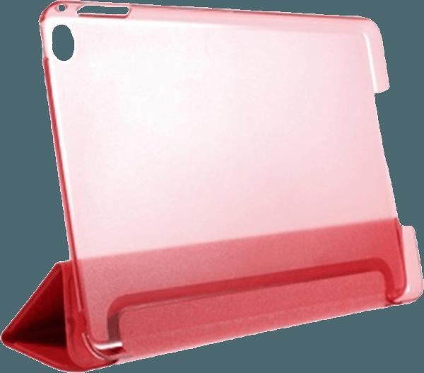 Apple iPad Mini 4 oldalra nyíló flipes műanyag tok TRIFOLD asztali tartó funkció piros