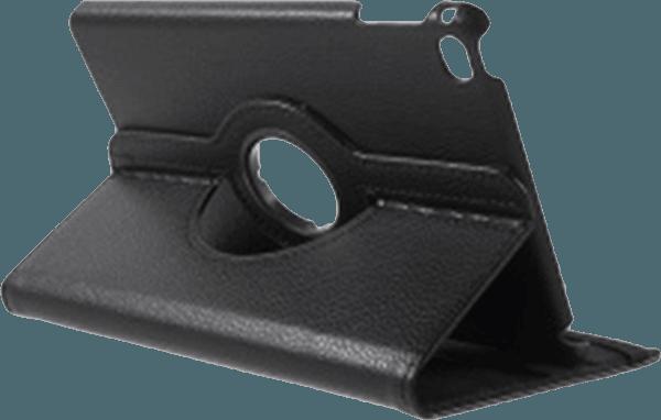 Apple iPad Mini 4 oldalra nyíló flipes bőrtok 360° ban forgatható fekete