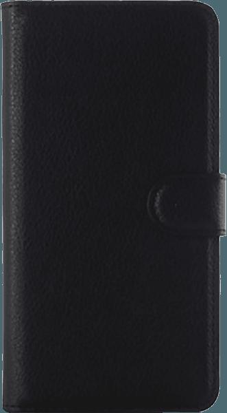 Samsung Galaxy A9 2016 (A910) oldalra nyíló flipes bőrtok asztali tartó funkciós fekete