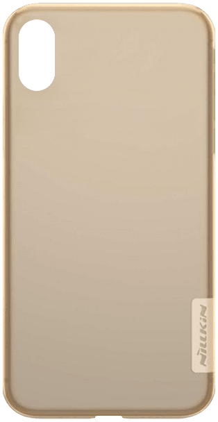 Apple iPhone X szilikon tok gyári NILLKIN ultravékony barna
