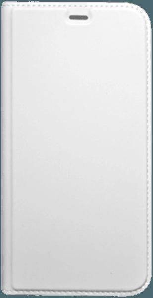 Apple iPhone X oldalra nyíló flipes bőrtok asztali tartó funkciós fehér