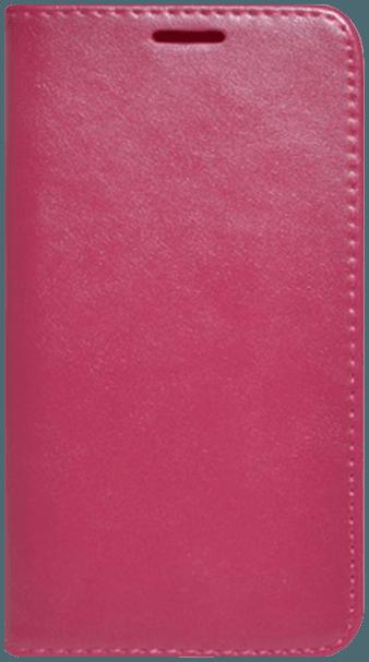 Apple iPhone X oldalra nyíló flipes bőrtok asztali tartó funkciós magenta