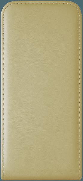 Samsung Galaxy S8 (G950) lenyíló flipes bőrtok szilikon tartó arany
