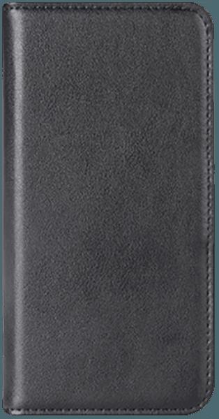Samsung Galaxy S8 (G950) oldalra nyíló flipes bőrtok valódi bőr fekete