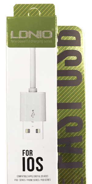 Apple iPhone 6 Plus Prémium Lightning USB adatkábel fehér