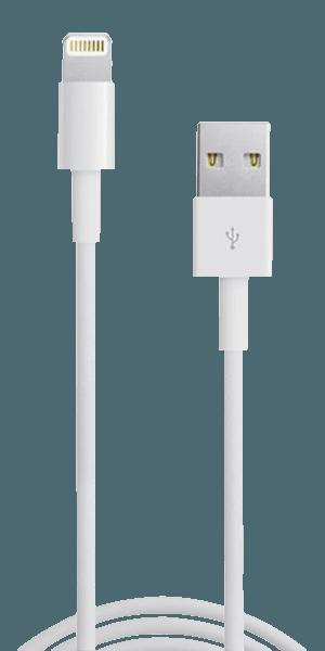 Apple iPhone 5 Prémium Lightning USB adatkábel fehér