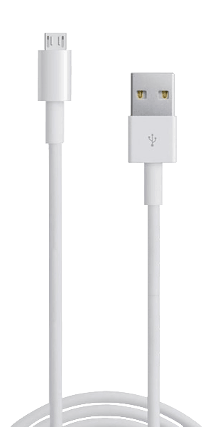 Huawei MediaPad T3 10 LTE Prémium micro USB gyorstöltő adatkábel fehér