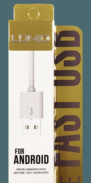 Huawei Y7 Prémium micro USB gyorstöltő adatkábel fehér