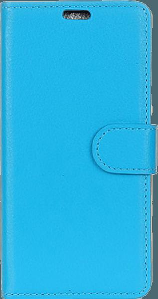 Samsung Galaxy A8 2018 (A530) oldalra nyíló flipes bőrtok asztali tartó funkciós világoskék