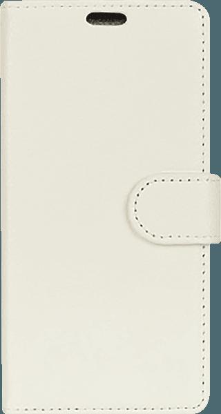 Samsung Galaxy A8 2018 (A530) oldalra nyíló flipes bőrtok asztali tartó funkciós fehér