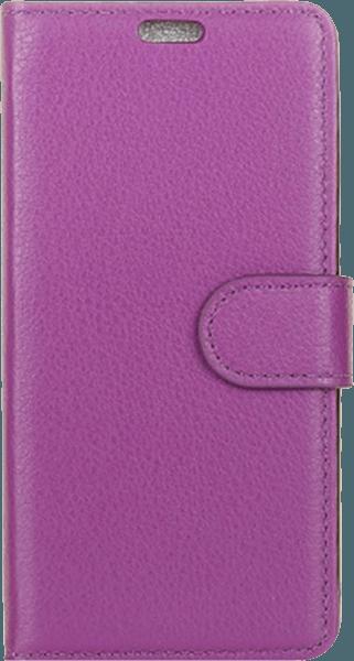 Samsung Galaxy S9 (G960) oldalra nyíló flipes bőrtok asztali tartó funkciós lila