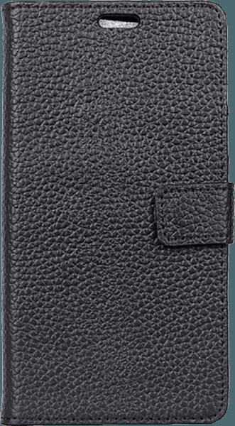 Samsung Galaxy S9 (G960) oldalra nyíló flipes bőrtok valódi bőr fekete