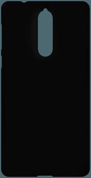 Nokia 8 Dual kemény hátlap gumírozott fekete