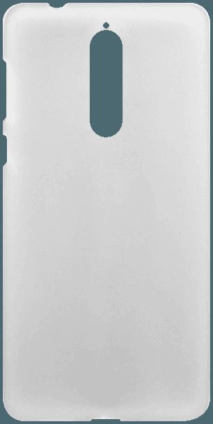 Nokia 8 Dual szilikon tok fényes keret átlátszó