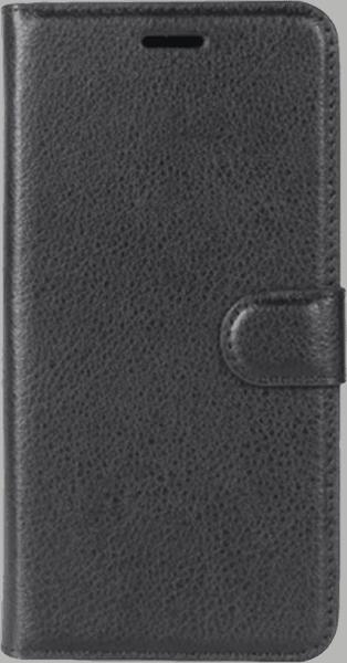 Nokia 8 oldalra nyíló flipes bőrtok asztali tartó funkciós fekete