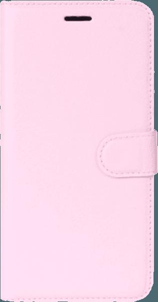 Nokia 8 oldalra nyíló flipes bőrtok asztali tartó funkciós rózsaszín