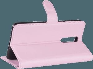 Nokia 8 Dual oldalra nyíló flipes bőrtok asztali tartó funkciós rózsaszín